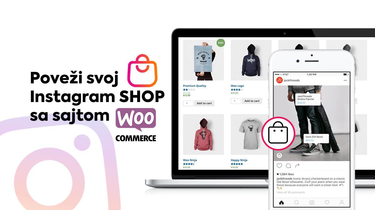 povezati instagram shop sa sajtom woocommerce